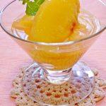白桃のコンポート・Peach compote and my favorite peach salad.