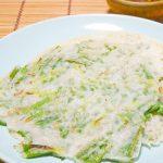 『グルテンフリー』青葱と米粉の韓&中パンケーキ