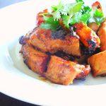 "広東風""蜜汁叉焼""・Japanese woman made Cantonese style roasted pork."
